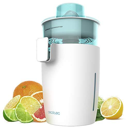 Cecotec exprimidor naranjas eléctrico Zitrus TowerAdjust Easy. Potencia 350 W,Filtro regulador de Pulpa,2 Conos Desmontables de Diferente tamaño, Tambor Libre de BPA, Capacidad de 0,5 L