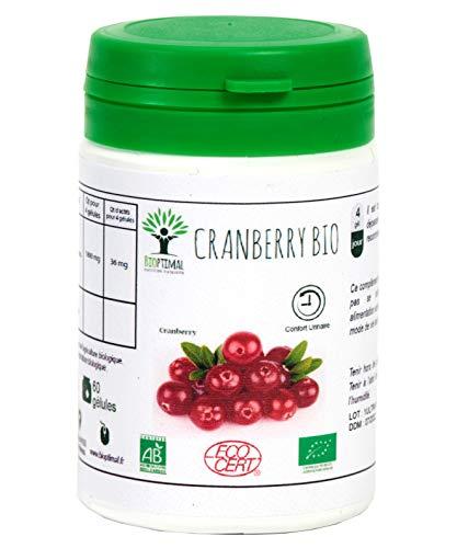 Cranberry - Bioptimal - Complément Alimentaire - Gélules de Canneberge - Canneberge Bio - Made in France - Certifié Ecocert (60 gélules)