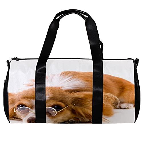 Bolsa de deporte redonda con correa de hombro desmontable para perros, gafas de sol, bolso de entrenamiento para mujeres y hombres