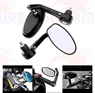 Andride Motorycle Bar End Mirror Rear View Mirror Oval for Bikes