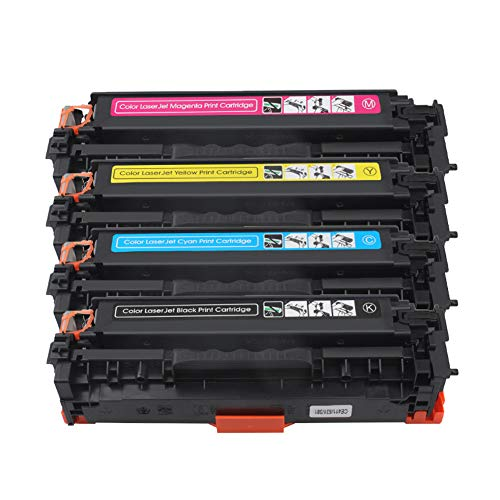 HDJX - Cartucho de tóner para HP CF380A cp2024 2026 cp2025 impresora 203a, fácil de añadir polvo, páginas impresas, color negro 3500 páginas, 2800 páginas a color