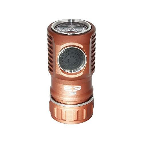 Amutorch E3S 3000 Lumen EDC Taschenlampe, Seitenschalter, Mini-Licht mit SST-20 LED, maßgeschneiderte 20350 Batterie im Lieferumfang enthalten, hohe Ausgangsleistung (Kupfer)