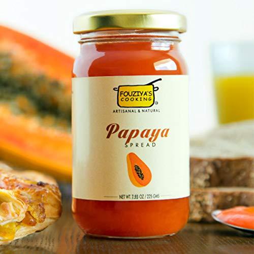 Papaya Fruit Spread - Indian Handmade Jam Serve With Toast, Bread And Pancake 225 GR (7.93 oz) by Fouziya's Cooking
