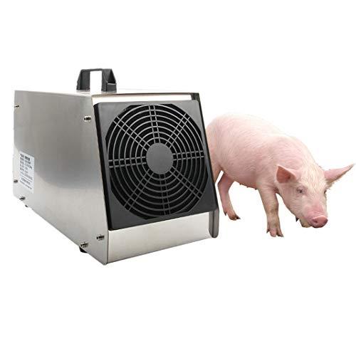 HD2DOG Générateur D'ozone Industriel, Minuterie Programmable Commerciale Portable 20 000 MG/H O3 Purificateur d'air pour Les Élevages Porcins Et Les Élevages Bovins Désodorisant Assainissant