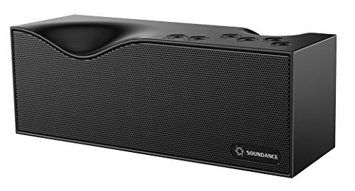 Altoparlanti Soundance Bluetooth con radio FM, microfono integrato, display a LED, supporto audio da 3,5 mm Linea In, carta di TF/Micro SD Card & input USB, Modello B1 (nero)