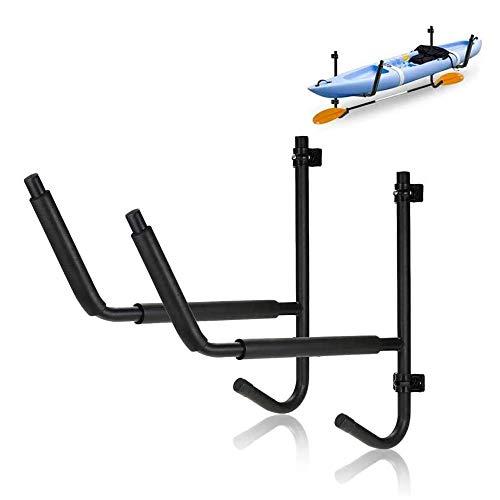 Dtong Estantería para Colgar el Kayak en Pared Acero de Alta Resistencia Escalera para Kayak, Fácil de Instalar para Garaje, Tablas de Paddle, Cobertizo