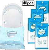 Gudotra 40pz Copertura Igienica Monouso per WC Impermeabile Copriwater USA e Getta per Viaggio Ospedale Casa