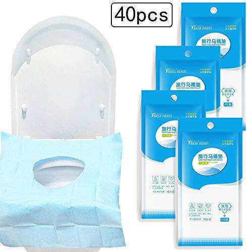 Gudotra 40 Pezzi Copriwater USA e Getta Impermeabile Monouso per WC Viaggio Ospedale Casa
