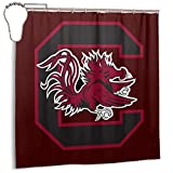 Littlearth South Carolina Gamecocks Waterproof Curtain Anti-Mildew Curtain Bathroom Partition Shower Curtain Suitable for Shower Room Bedroom Bathtub(72x72 in)