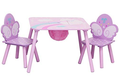 IB-Style - Kindersitzgruppe UNICORN - Stuhl Truhenbank Tisch | 3 Kombinationen | 2x Kinderstuhl 1x Kindertisch