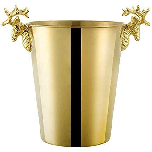 Deer Roestvrij Staal Ijsemmer, Wijnglazen Dikke Roestvast Stalen Ijsemmer Champagne Ijsemmer Wine Bar KTV Barrel Grote Tijger,Gold,S