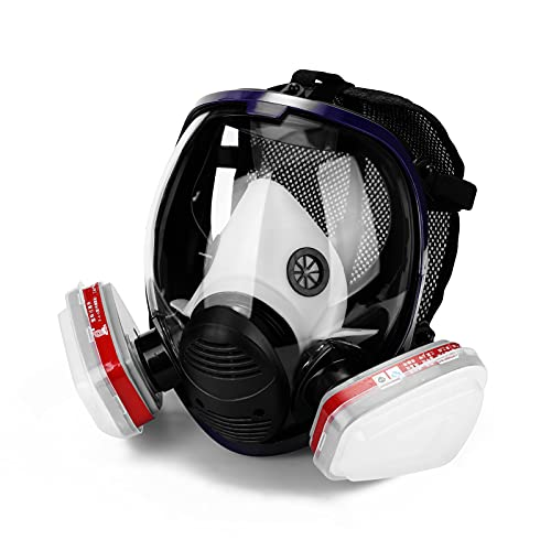 Decdeal Gases Ma-sk Chemical Sprays Paint Anti-Formaldehyde Activated Carbon Ma-sk Silicone Full Face Filters
