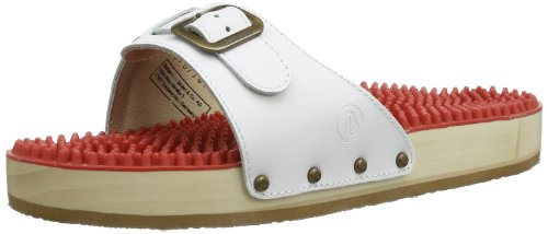 Berkemann Noppen-Sandale, Unisex-Erwachsene Pantoletten, Weiß (weiß 100),Gr.40 2\3 (7 UK)