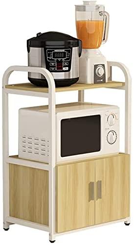 Estantes de ducha Contador de cocina Soporte de madera de dos niveles de madera Racks de almacenamiento UTILIZACIÓN Almacenamiento de microondas Soporte de horno multifunción Contador de cocina Multif