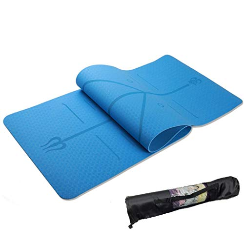 Thick Non-Slip Yoga Mat with Position Line Fitness Comfort Gym Exercise Pads thumbnail image