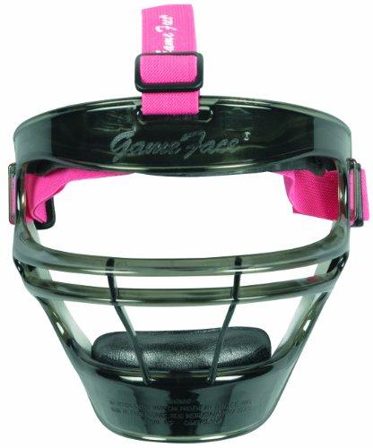 Markwort Game Face Sports Safety Mask (Smoke with Pink Ponytail Harness, Medium)