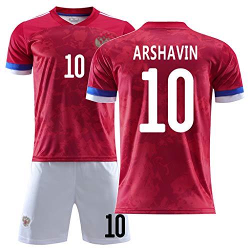 GHMEI Fußball Kinder Trikot, 2020 Europapokal Russland Neue Saison Heim fußball Arshavin Kokorin Shorts T-Shirt, für Mann Teenager Erwachsene-#10-M