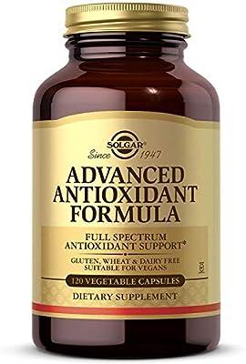 Solgar Advanced Antioxidant Formula, 120 Vegetable Caps - Full Spectrum Antioxidant Support - Contains Zinc, Vitamin C, E & A - Immune System Support - Vegan, Gluten Free, Dairy Free - 60 Servings