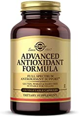Advanced Antioxidant Support; Solgar Advanced Antioxidant Formula provides ingredients that promote antioxidant activity and provide antioxidant support to the cells of the body Zinc And Other Antioxidant-Rich Trace Minerals; This formula contains 10...