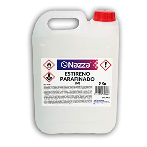 Estireno Parafinado para Gelcoats y Resinas de Poliéster - Garrafa de 5 KG.