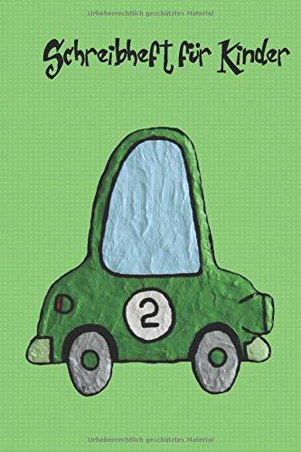 Liniertes Schreibheft oder Journal für Kinder mit einem Rennauto auf dem Cover: Mit 110 Seiten und im praktischen Format 6x9 Zoll, um es überall hin mitnehmen zu können