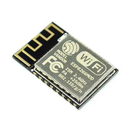 Tivivose 100pcs / Lot Ion ESP-07 ESP-12E ESP-12F ESP-12S (Reemplace ESP-12) ESP8266 Puerto de Serie Remoto WiFi Módulo inalámbrico Inteligente (Color : ESP 12S)