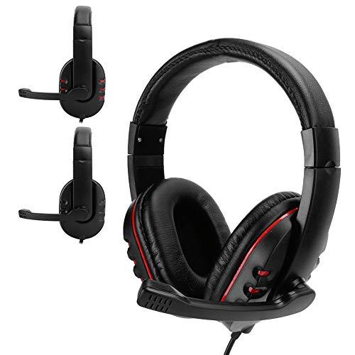 Dpofirs Auriculares para Cascos para Juegos con Cable de 3,5 mm, Auriculares...