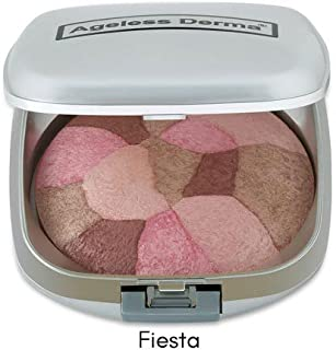 Ageless Derma Baked Mineral Makeup Healthy Blush Collage Of Colors (Fiesta). Highlighter Makeup