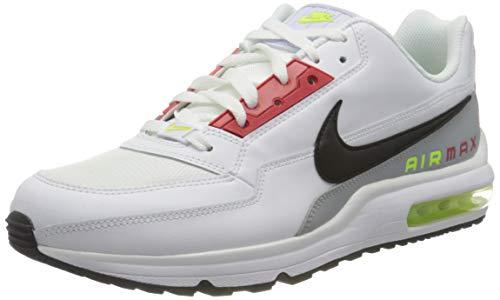 Nike Air Max Ltd 3, Scarpe da Corsa Uomo, White/Black-lt Smoke Grey-Volt, 44 EU