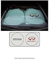 Xuncar 150X70cm車の窓サンシェード車のフロントガラスバイザーカバーブロックフロントウィンドウサンシェードUV保護車の窓フィルム (for Infiniti)