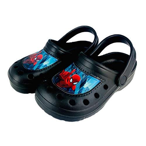 Marvel Spiderman Hausschuhe für Jungen Clog 2771, Schwarz - Schwarz - Größe: 31/32 EU