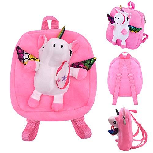 INTVN Unicornio Zaino per Bambini Zaini per Unicorno Regalo per Bambini Bagagli per Bambini per Uso Scolastico - Unicorno Rosa