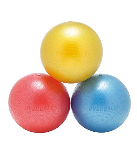 Overball Palla da ginnastica, 25cm, per pilates, yoga, ginnastica, terapia, colori: blu/rosso/giallo, Gelb