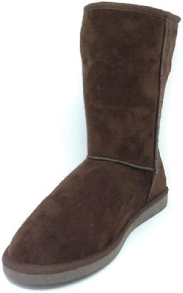 Women's Suede Mid Calf Warm Winter Bootie Boots