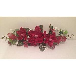 24″ Silk Crinkle Magnolia Swag Artificial Flower Home Wedding Centerpiece Decor naLA02