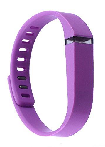 iTecoSky Correa de repuesto y cierre inteligente de repuesto para pulsera Fitbit Flex, pulsera de actividad inalámbrica con cierre de metal (morado)