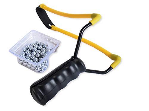 K&B Vertrieb Steinschleuder inkl. Stahlkugeln Futterschleuder Sportschleuder Schleuder 258 (1 Stück)