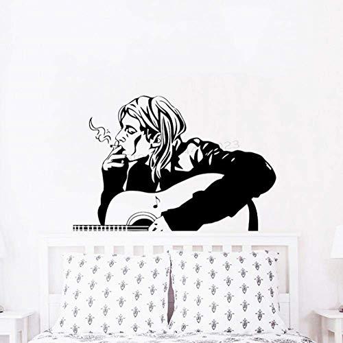 Muurstickers 63X42Cm Rock Muziek Poster Gitaar Man Art Deco Beweegbare Wanddecoratie Office Kinderkamer DIY PVC Slaapkamer