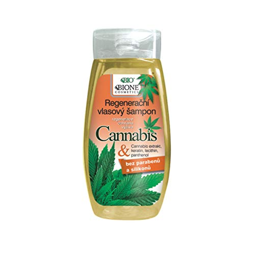 Bione 100% Bio - Vegan Shampoo mit Cannabis-Extrakte & Keratin & Lecithin & Panthenol ohne Mineralöl, Silikone, Parabene, SLS!