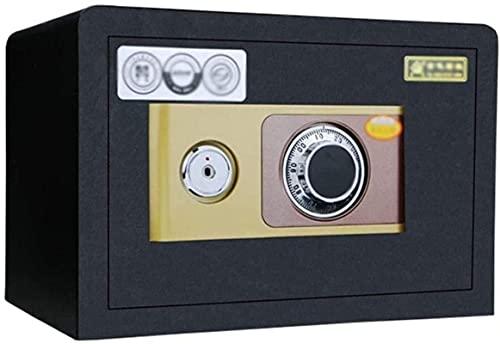 Caja fuerteCXSMKP Caja Segura Caja de Acero El Bloqueo de código mecánico de Doble Capa con Clave Seguro se Puede Colocar en el Armario Smart Home Safe