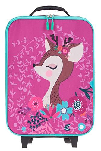 Kindertrolley Mädchen Jungen Kinderkoffer Spielekoffer Fabrizio + Eisbär (REH Pink 3100)