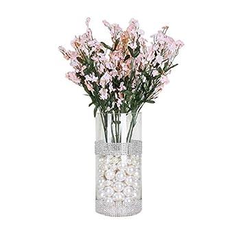 BalsaCircle 32 Blush Silk Baby Breath Artificial Flowers - 12 Bushes - Wedding Party Centerpieces Arrangements Bouquets Supplies
