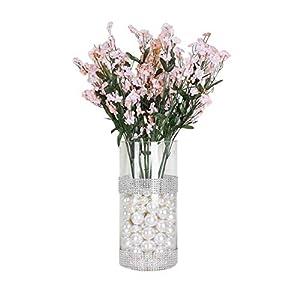Silk Flower Arrangements BalsaCircle 32 Blush Silk Baby Breath Artificial Flowers - 12 Bushes - Wedding Party Centerpieces Arrangements Bouquets Supplies