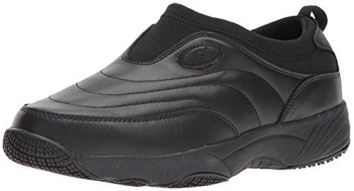 Propet Women's W3851 Wash & Wear Slip-on II Slip Resistant Sneaker Walking Shoe, Sr Black, 9.5 Medium