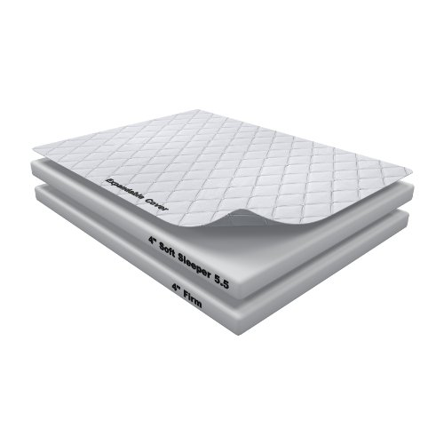 Hot Sale 8 Inch Soft Sleeper 5.5 King Mattress Bed With 4 Inches of Visco Elastic Memory Foam Assembly Required USA Made