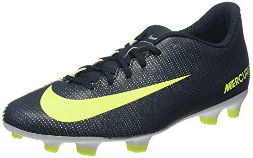 Nike Mercurial Vortex III Cr7 Fg, Scarpe da Calcio Uomo, Nero (Seaweed/Volt/Hasta/White/Mtlc Silver), 43 EU