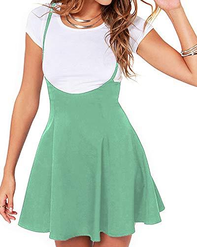 YOINS Rock Damen Mädchen Minirock Kawaii A Linie Mini Skater Rock Kleider für Damen Minikleid Skaterkleid,Mintgrün,XL
