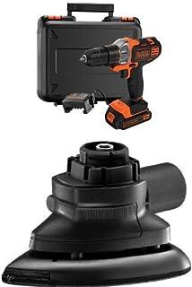 Black + Decker MT218K-GB 18 V Multievo Multi-Tool with Drill Driver Attachment + Sander Attachment Bundle