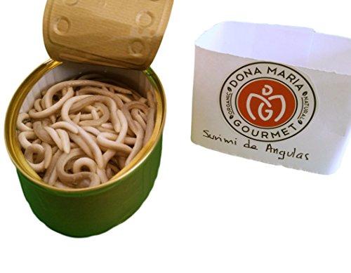 Surimi of Baby Eels in Garlic and Olive Sauce Pack of 2 Gluten Free (Angulas, Eelbroods)