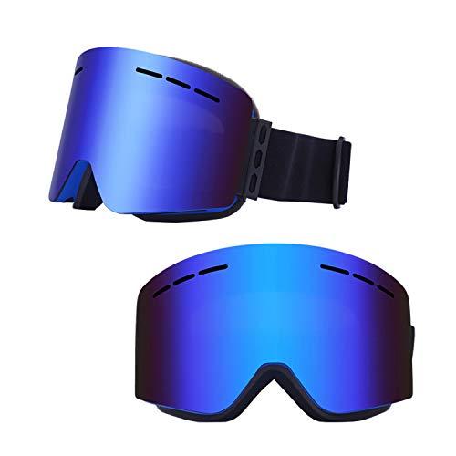 Anti Fog Skibrille, Bergsteigerbrille Cocker Myopia Brille Zum Skifahren Skaten Schneemobile, Winddichte und 100{362bdf990651310d9194788fa0ba878febd5dd35544f9c8687e14e9b9c151f0a} UV Schutz Schneebrille für Männer und Frauen (B)